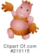 Royalty-Free (RF) Hippo Clipart Illustration #210115