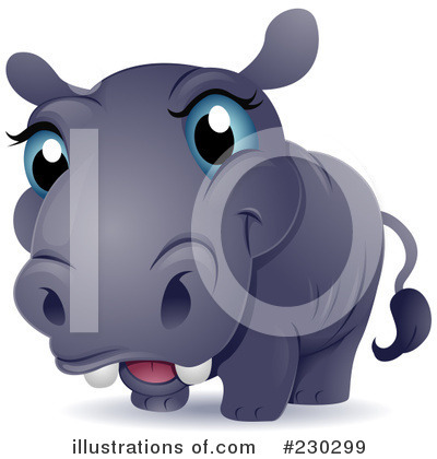Royalty-Free (RF) Hippo Clipart Illustration by BNP Design Studio - Stock Sample #230299