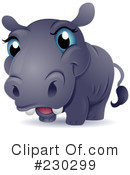 Royalty-Free (RF) Hippo Clipart Illustration #230299