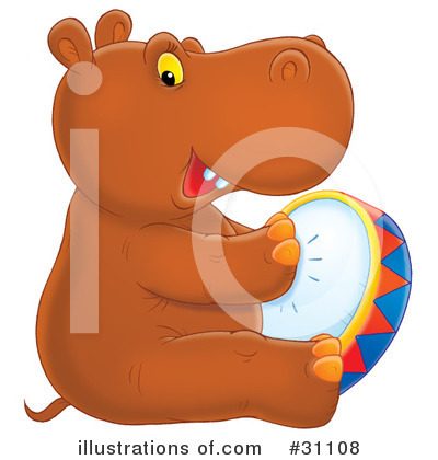 Royalty-Free (RF) Hippo Clipart Illustration by Alex Bannykh - Stock Sample #31108
