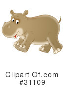 Royalty-Free (RF) Hippo Clipart Illustration #31109