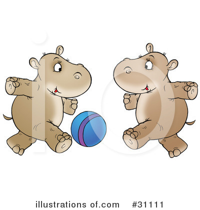 Royalty-Free (RF) Hippo Clipart Illustration by Alex Bannykh - Stock Sample #31111