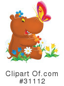 Royalty-Free (RF) Hippo Clipart Illustration #31112