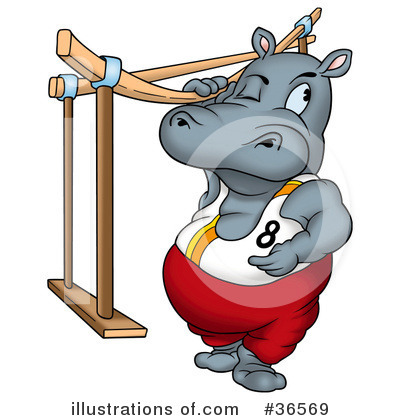 Royalty-Free (RF) Hippo Clipart Illustration by dero - Stock Sample #36569