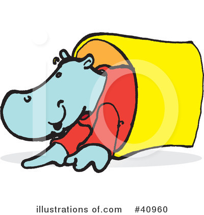 Royalty-Free (RF) Hippo Clipart Illustration by Snowy - Stock Sample #40960