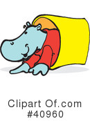 Royalty-Free (RF) Hippo Clipart Illustration #40960