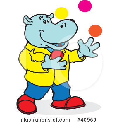 Royalty-Free (RF) Hippo Clipart Illustration by Snowy - Stock Sample #40969