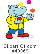 Royalty-Free (RF) Hippo Clipart Illustration #40969