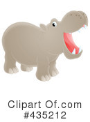 Royalty-Free (RF) Hippo Clipart Illustration #435212