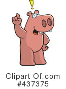 Royalty-Free (RF) Hippo Clipart Illustration #437375