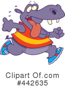 Royalty-Free (RF) Hippo Clipart Illustration #442635