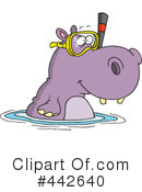 Royalty-Free (RF) Hippo Clipart Illustration #442640