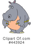 Royalty-Free (RF) Hippo Clipart Illustration #443924