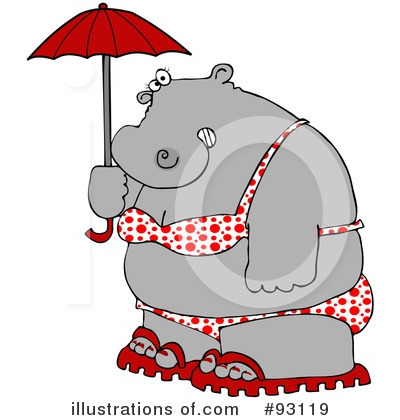 Royalty-Free (RF) Hippo Clipart Illustration by djart - Stock Sample #93119