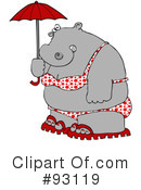 Royalty-Free (RF) hippo Clipart Illustration #93119