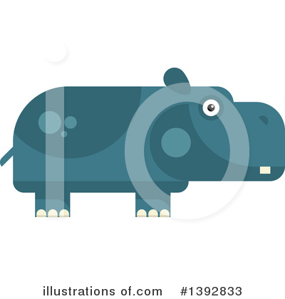 Hippo Clipart #1392833 by Vector Tradition SM