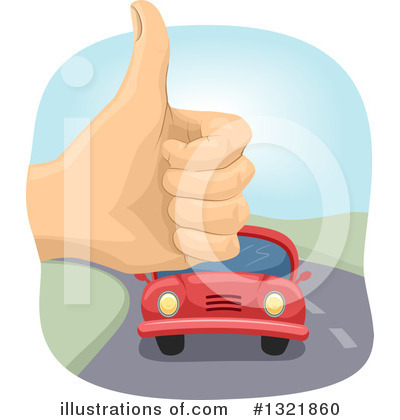 Royalty-Free (RF) Hitchhiker Clipart Illustration by BNP Design Studio - Stock Sample #1321860
