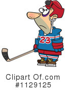 Royalty-Free (RF) Hockey Clipart Illustration #1129125