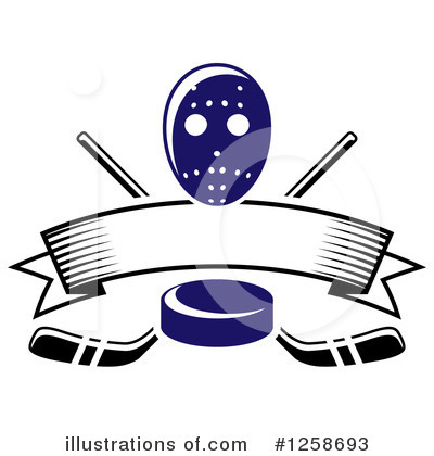 Hockey Clipart #1258693 by Vector Tradition SM