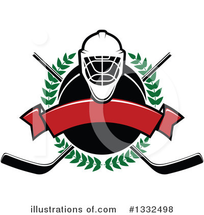 Hockey Clipart #1332498 by Vector Tradition SM