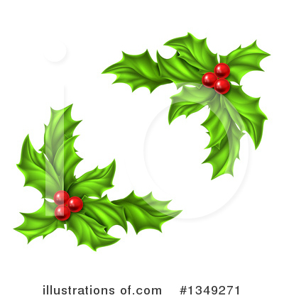 Holly Clipart #1349271 by AtStockIllustration