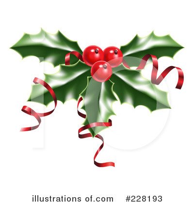 Holly Clipart #228193 by AtStockIllustration