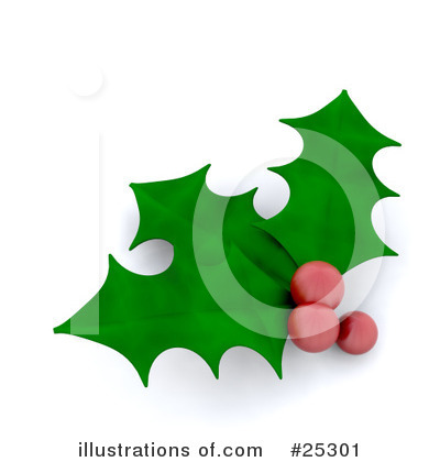 Royalty-Free (RF) Holly Clipart Illustration by KJ Pargeter - Stock Sample #25301