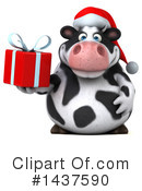 Holstein Christmas Cow Clipart #1437590