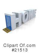 Royalty-Free (RF) Home Clipart Illustration #21513