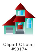Royalty-Free (RF) Home Clipart Illustration #90174