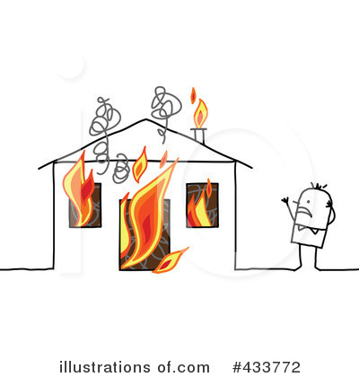 Royalty-Free (RF) Home Insurance Clipart Illustration by NL shop - Stock Sample #433772