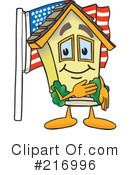 Royalty-Free (RF) Home Mascot Clipart Illustration #216996