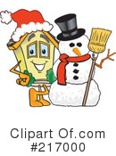 Royalty-Free (RF) Home Mascot Clipart Illustration #217000