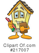 Royalty-Free (RF) Home Mascot Clipart Illustration #217007