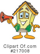 Royalty-Free (RF) Home Mascot Clipart Illustration #217008