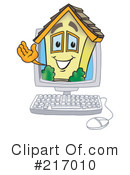 Royalty-Free (RF) Home Mascot Clipart Illustration #217010