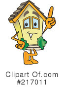 Royalty-Free (RF) Home Mascot Clipart Illustration #217011