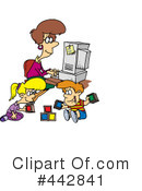 Royalty-Free (RF) Home Office Clipart Illustration #442841