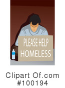Homeless Clipart #100194