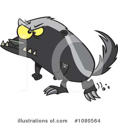 Honey Badger Clipart #1080564 by toonaday