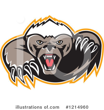 Badger Clipart #1214960 by patrimonio