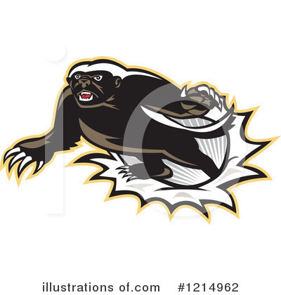 Badger Clipart #1214962 by patrimonio