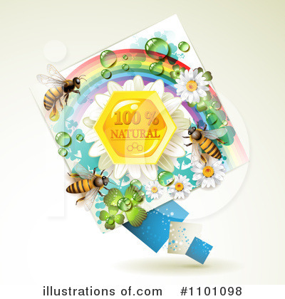 Honey Bee Clipart #1101098 by merlinul