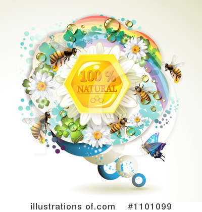 Honey Bee Clipart #1101099 by merlinul