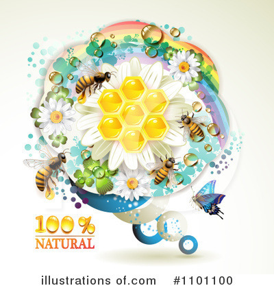Honey Bee Clipart #1101100 by merlinul