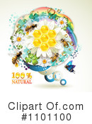 Royalty-Free (RF) Honey Bee Clipart Illustration #1101100