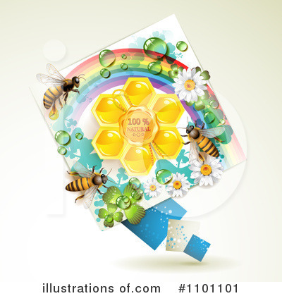Honey Bee Clipart #1101101 by merlinul