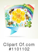 Royalty-Free (RF) Honey Bee Clipart Illustration #1101102