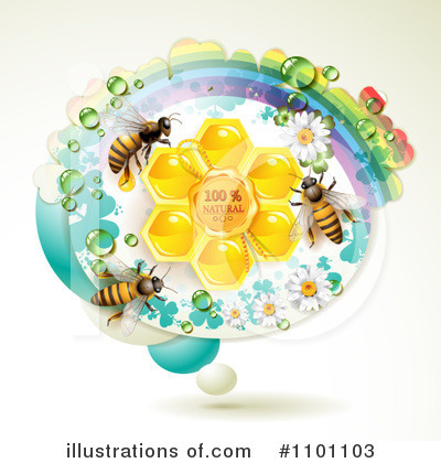 Honey Bee Clipart #1101103 by merlinul