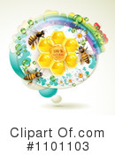Royalty-Free (RF) Honey Bee Clipart Illustration #1101103